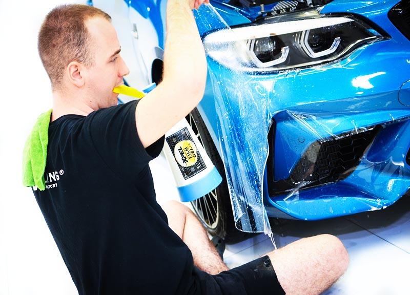 zabezpieczenie lakieru samochodu folią ochronną ppf XPEL w olsztynie